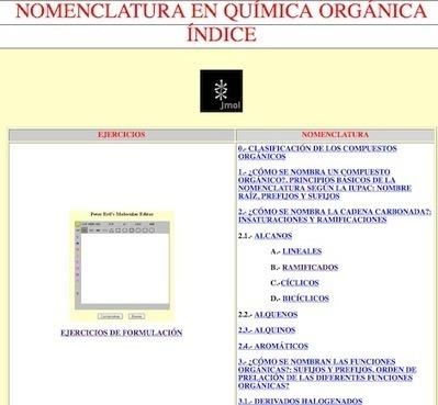 Formulación y nomenclatura de compuestos orgánicos | Aplicaciones para física y Química | Scoop.it