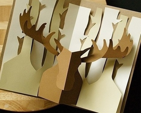 Kirigami Moose Popup Card Make Yourself by popupcardmaking on Etsy | Quilling and papermade | Scoop.it