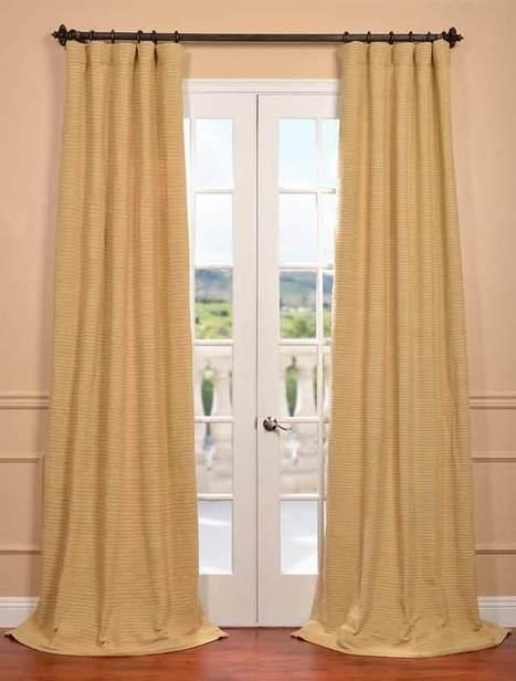Lemon Grass Hand Weaved Cotton Curtain | window curtains | Scoop.it
