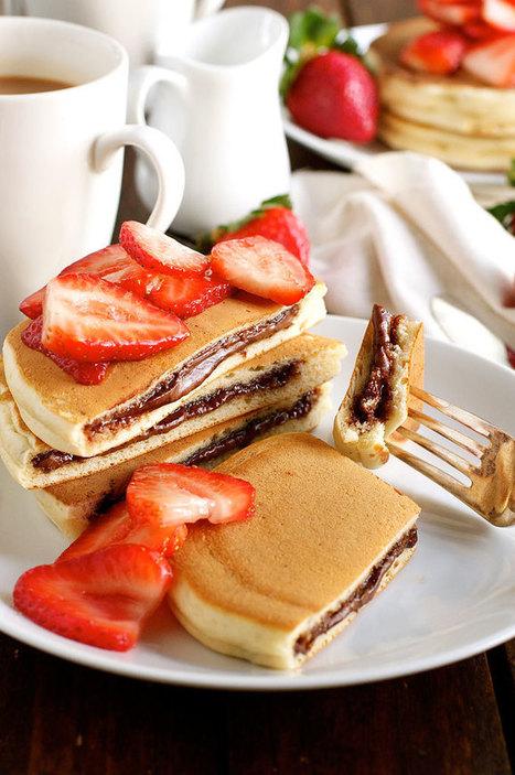 Nutella Stuffed Pancakes   RecipeTin Eats   Trucs et astuces du net   Scoop.it