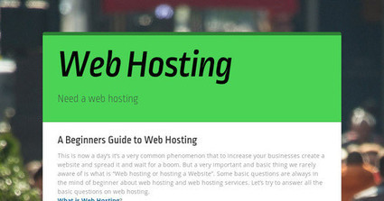 Web Hosting | socialmediass | Scoop.it