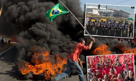 Brazil football team bus is bombarded by protesters as anger mounts | Brasil World Cup | Scoop.it