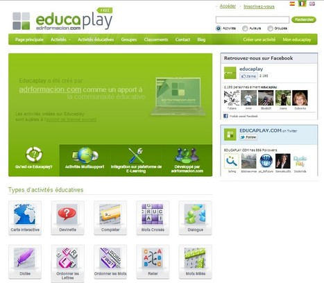 Site d' Activités Éducatives multimedia - Educaplay | 21st Century Tools for Teaching-People and Learners | Scoop.it