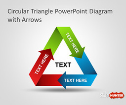 Free Circular Triangle PowerPoint Diagram with Arrows | PPT Templates | Scoop.it
