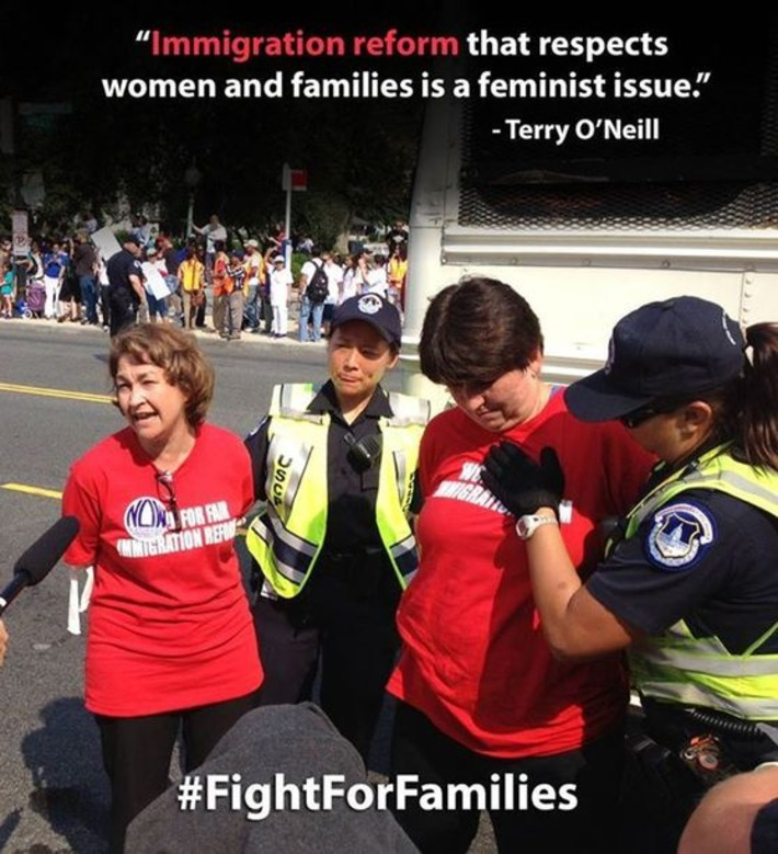Terry O'Neill has been arrested fighting for immigration reform that respects women & families - National Organization for Women (NOW) | Facebook | Dare To Be A Feminist | Scoop.it