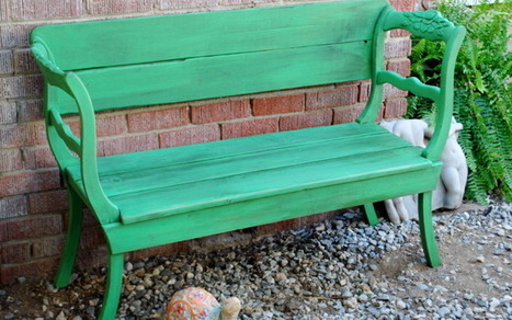 Antibes Green Garden Bench | Education and teaching | Scoop.it