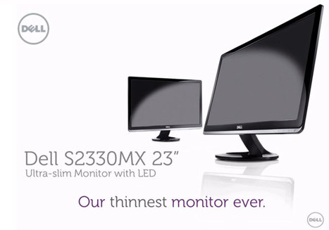 Dell Unveils Its Thinnest Monitor Ever S2330MX (video) » Geeky Gadgets | Technology and Gadgets | Scoop.it