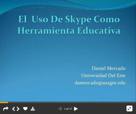 Skype y Videoconferencia como Herramienta Educativa | Presentación | Educacion, ecologia y TIC | Scoop.it