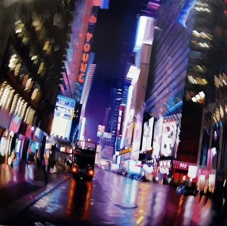 Blurry Nightlife Oil Paintings by Alexandra Pacula | Arts graphiques | Scoop.it