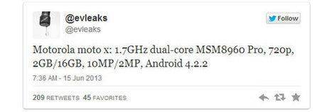 Motorola X ses caractéristiques - Fuite - WeAreMobians | MotoX | Scoop.it