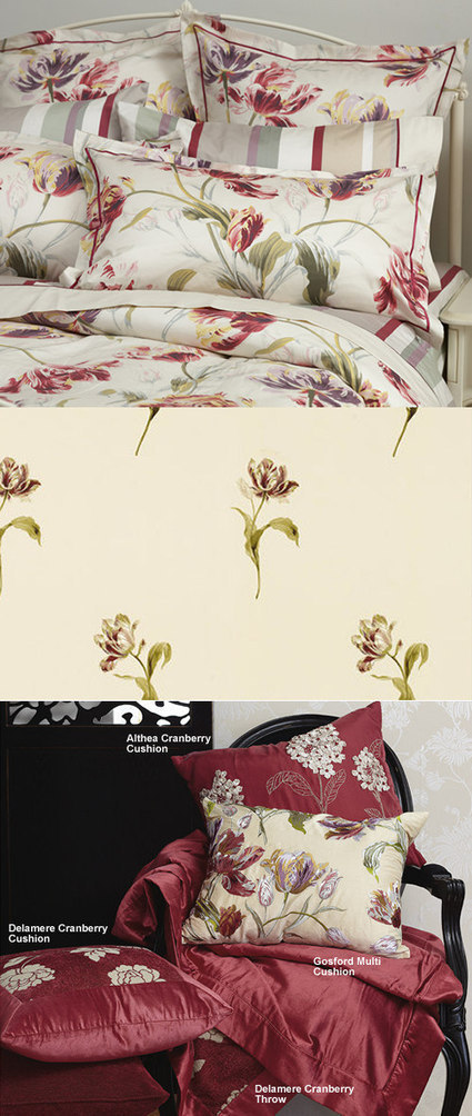 cottonbox - bed linen :: Quilt Cover Sets, kids bed linen, Duvet Cover Sets, Buy bed linen, quilt sets, comforter, bed linen Australia - Gosford Cranberry Cushion by Laura Ashley | Bed Linen | Scoop.it
