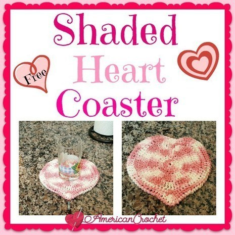 Shaded Heart Coaster | Crochet | Scoop.it