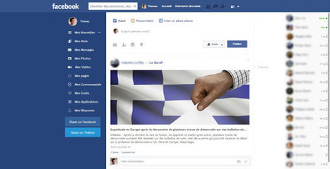Modifier le design de #Facebook avec Facebook Flat | Time to Learn | Scoop.it