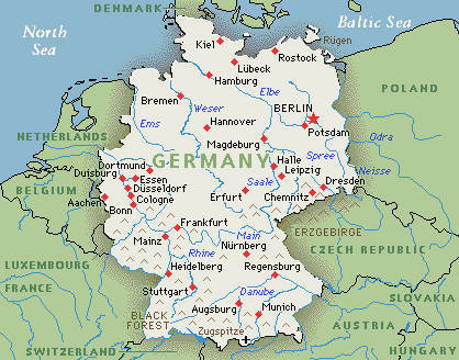 Map of Germany | The Reader Germany | Scoop.it