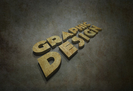 3D Grunge Text Tutorial With Illustrator and Photoshop   mameara   Design Tutorial   Scoop.it