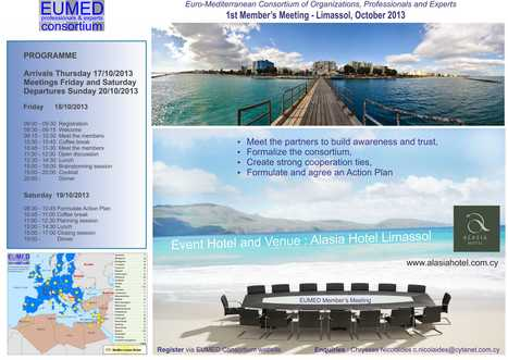 1st Annual Meeting of EUMED consortium Partners - 18,19 October 2013 in Limassol | EUMED Consortium - Member's Area | Scoop.it