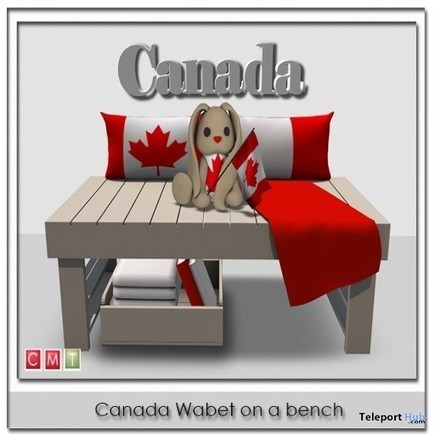 Canada Wabet On A Bench Group Gift by Zen Creations | Teleport Hub - Second Life Freebies | Second Life Freebies | Scoop.it