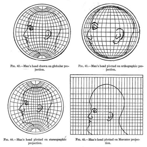 Top 7 maps that ultimately explain map projections - Geoawesomeness | GeoWeb OpenSource | Scoop.it