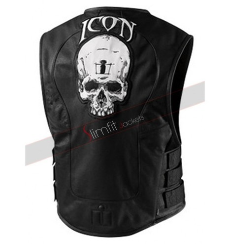Icon Regulator Skull Leather Vest | Motorcycle Leather Jackets For Men and Women | Scoop.it