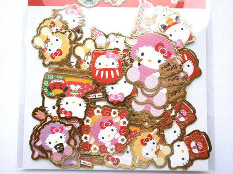Hello Kitty  Stickers  New Year  Chiyogami Paper Sticker Flakes  2015 Year Of The Sheep (S232)   Etsy Today   Scoop.it