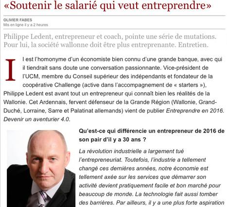 «Soutenir le salarié qui veut entreprendre» | Management & Entrepreneurship | Scoop.it