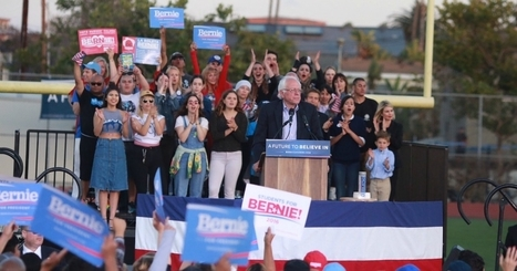 Neck-and-Neck in California as Sanders Virtually Erases 50-Point Deficit | Global politics | Scoop.it