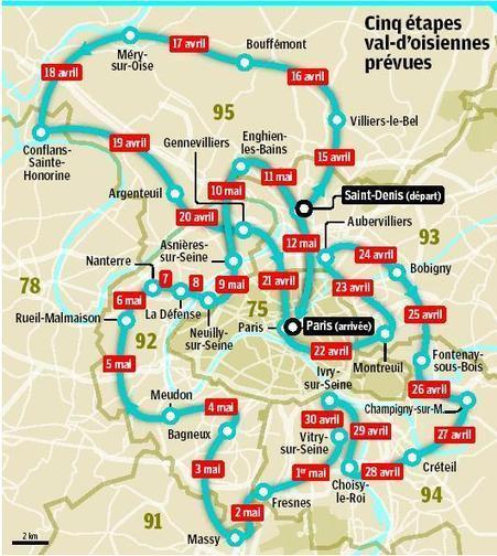 Itinéraire de la #MarchedesBanlieues DERNIERE MISE A JOUR objectif #12M15M | #marchedesbanlieues -> #occupynnocents | Scoop.it