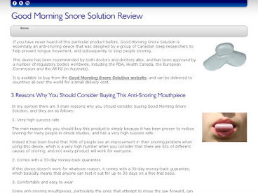 GMSS Anti-Snoring Device | Useful Product Reviews | Scoop.it