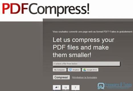 PDFCompress! : un service en ligne pour compresser les fichiers PDF | Moodle and Web 2.0 | Scoop.it