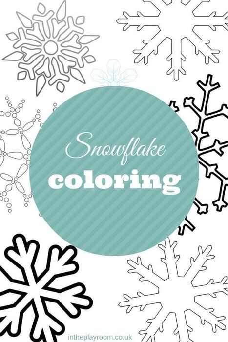 Snowflake Colouring Pages | Arts & Crafts | Scoop.it