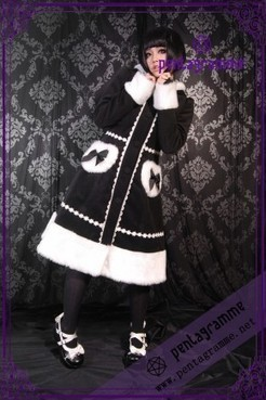 Manteau Gothic Sweet Lolita Bunny Noir Blanc   Manteaux et Vestes Femme Gothique-Pentagrammeshop   Scoop.it