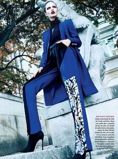 Julie Borawska Has the Blues for Vogue Mexico Spread by Kevin Sinclair | Designed influence | Scoop.it