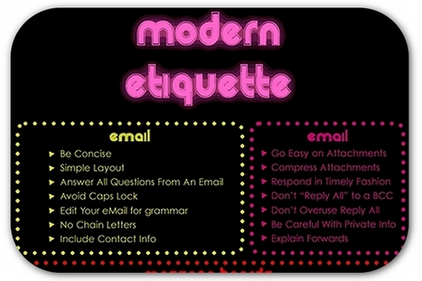 A cheat sheet for online etiquette | Articles | Home | Schools of Business and Leadership: Thoughts on educating business and organizational leaders | Scoop.it