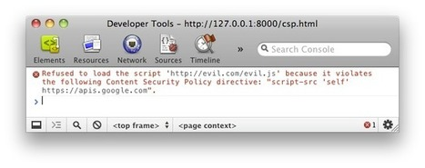 An Introduction to Content Security Policy - HTML5 Rocks | Realtime Web Dev | Scoop.it
