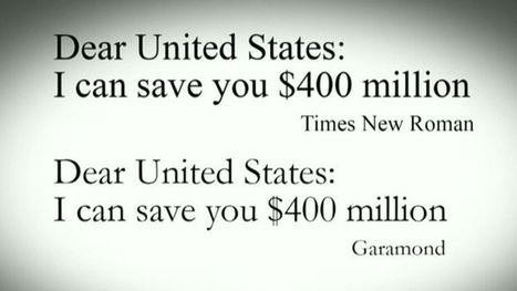 Pour économiser des millions, l'État américain doit changer de police d'écriture | Coffee Break | Scoop.it