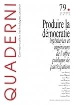 La revue Quaderni est désormais en ligne sur revues.org | Veille de l'édition scientifique | Scoop.it