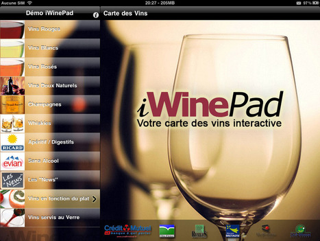 iWinePad - La Carte des Vins sur iPad | Tag 2D & Vins | Scoop.it