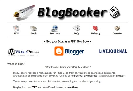 BlogBooker - Create a PDF Blog Book | Around LICT | Scoop.it