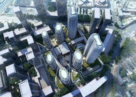 [Slovakia] Bratislava Culenova New City Center Proposal / Zaha Hadid Architects   The Architecture of the City   Scoop.it