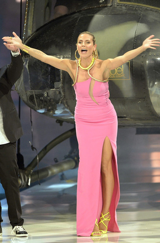 Heidi Klum in Neon Yellow Jimmy Choo Heels  Germany's Next Top Model Finale | Top Shoes | Scoop.it