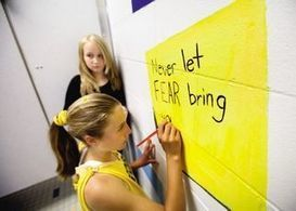 'Beautiful' messages in girls school bathroom counter negative 'self-talk' | Common Core Implementation | Scoop.it