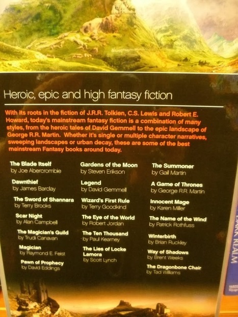 The Wertzone: Waterstones fail to recognise female fantasy authors   LibraryLinks LiensBiblio   Scoop.it