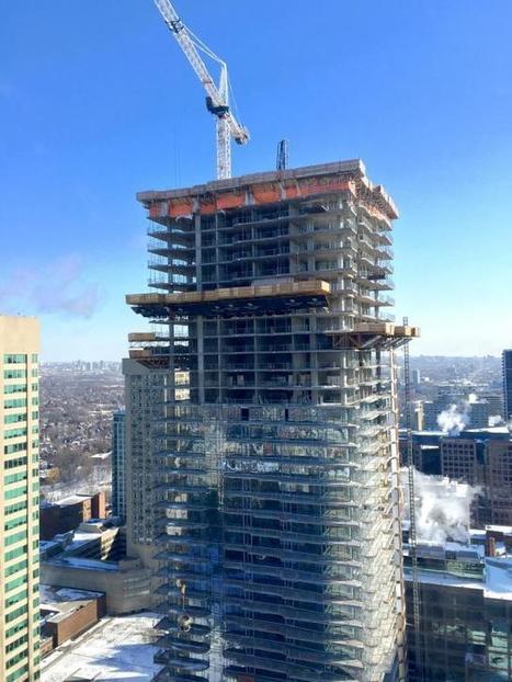 One Bloor East Now Overlooking the Intersection of Yonge & Bloor   Urban Toronto   construction   Scoop.it