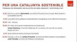 Per una Catalunya Sostenible. Trobada de regidors socialistes de medi ambient i sostenibilitat. | Medi Ambient | Partit dels Socialistes de Catalunya | Sostenibilitat PSC | Scoop.it