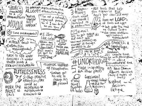 PRESENTATION: 9 characteristics of a Productivity Ninja – sketchnotes [Graham Allcott] #mawsig | ELT Writer ESL Writer | Scoop.it