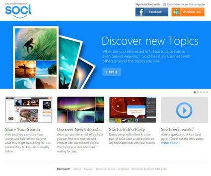 Microsoft met discrètement son réseau So.cl en ligne | WEBMARKETING | Scoop.it