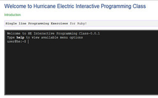 Hurricane Electric Interactive Programming | Coding Resources | Scoop.it