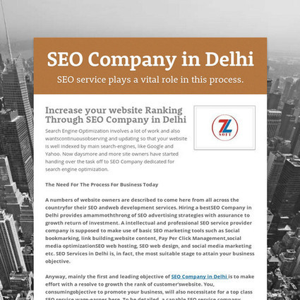 SEO Company in Delhi | ZSoft Internet Media Pvt. Ltd. | Scoop.it