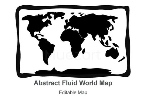 World Map - Abstract Fluid Style Template for Keynote Presentations | Apple Keynote Slides For Sale | Scoop.it