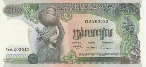 1973 issue Cambodian 500 Riels banknote. Pre Khmer rouge period. In excellent condition. 5 available. | Retrofanattic's articles and items for sale | Scoop.it